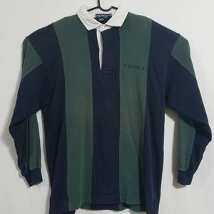 2/$40 Vintage 90s Nautica Mens XL Heavy Rugby Polo